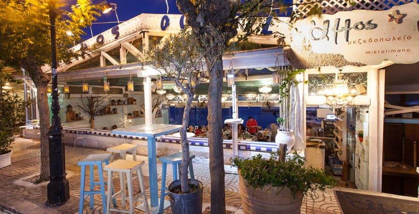 Ресторан Ammos в Афинах (Греция)