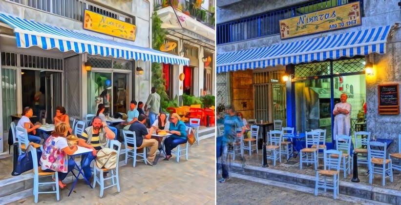 Таверна Nikitas в Афинах (Греция)