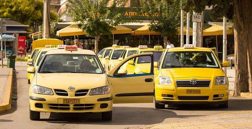 Такси в Афинах (Греция)