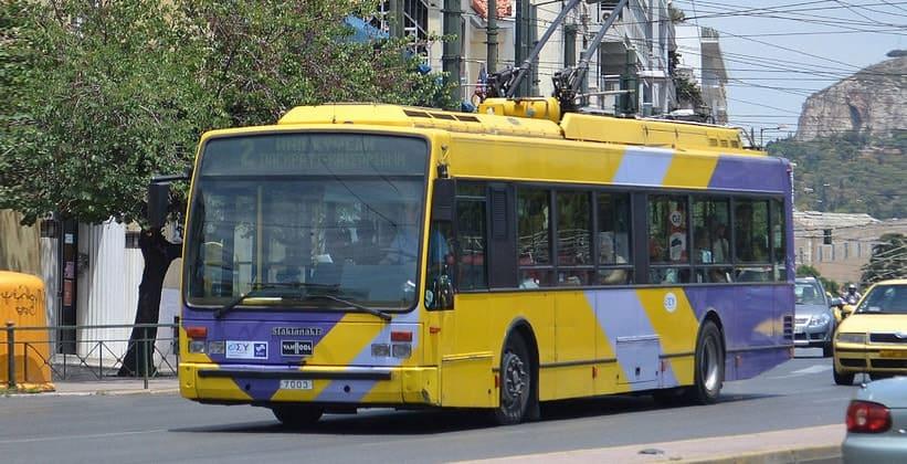 Троллейбусы в Афинах (Греция)