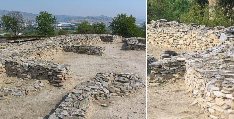 Руины античного поселения Димини в Греции
