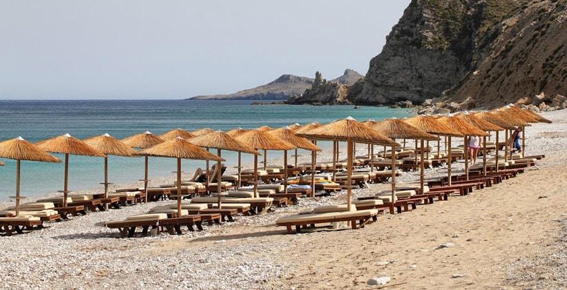 Пляж Комбонада на острове Китира