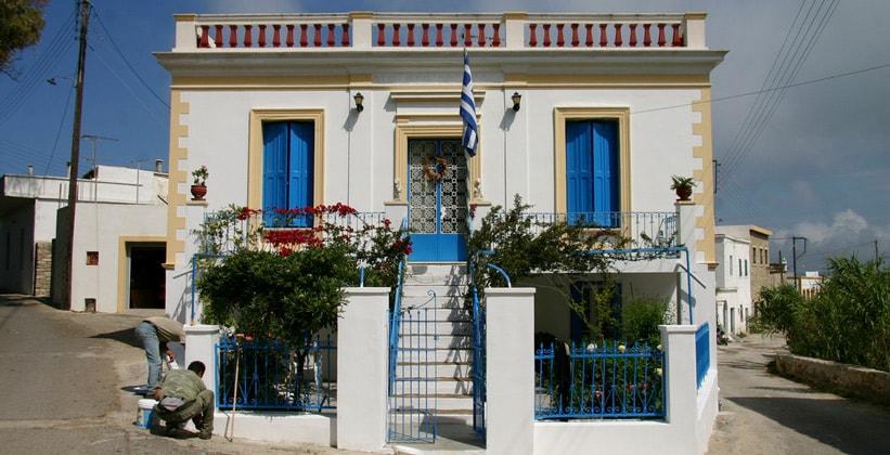 Дом мэра в деревне Милопотамос на острове Китира