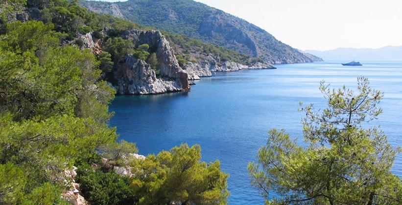 Остров Ангистрион в Греции