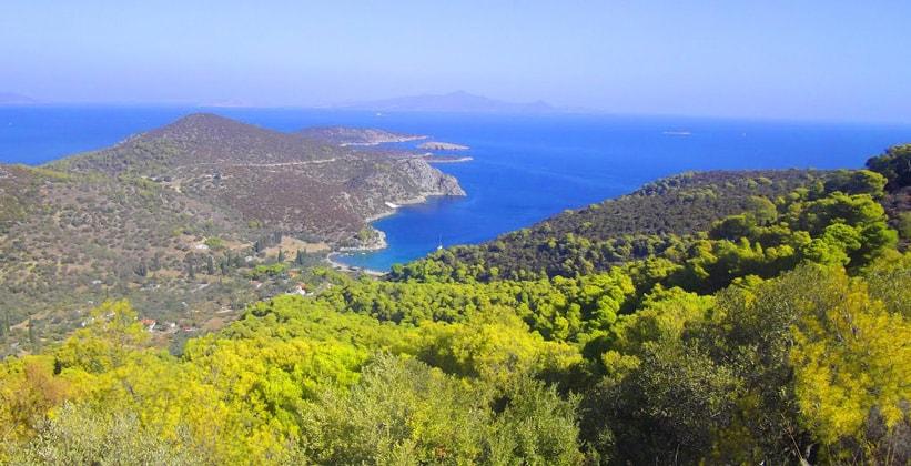 Остров Порос в Греции