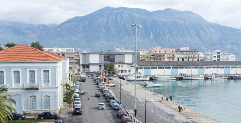 Город Каламата в Греции