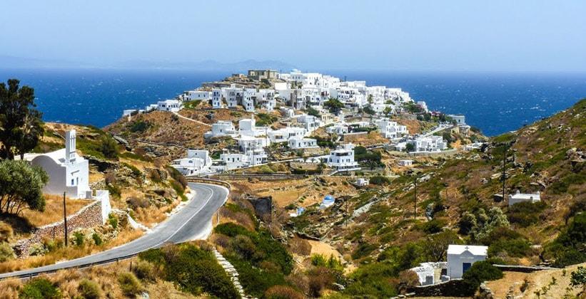 Курорт Кастро на острове Сифнос (Греция)
