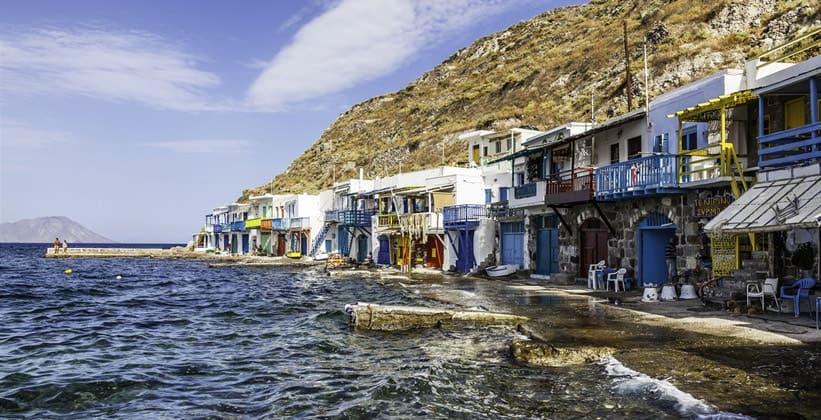 Деревня Клима на острове Милос (Греция)