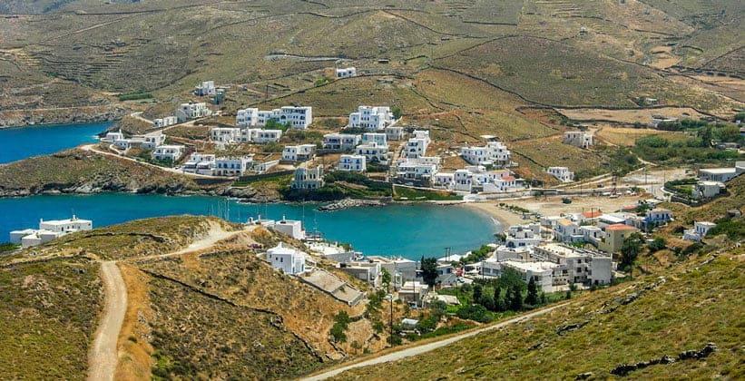 Курорт Лутра на острове Китнос (Греция)