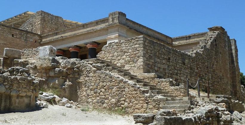 Мегарон царя в Кносском дворце (Греция)