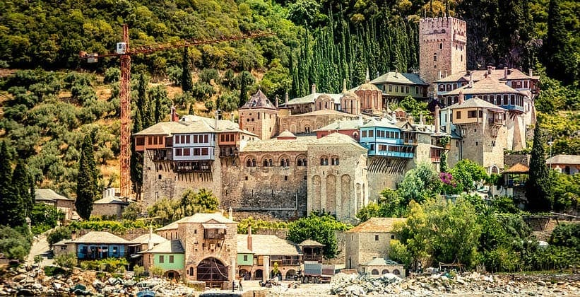 Монастырь Дохиар на горе Афон