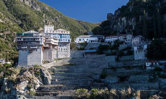 Монастырь Святого Дионисия (гора Афон) в Греции