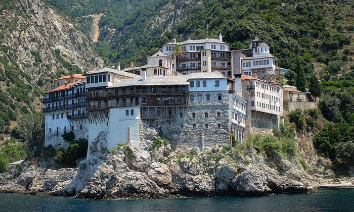 Монастырь Блаженного Григория (гора Афон) в Греции