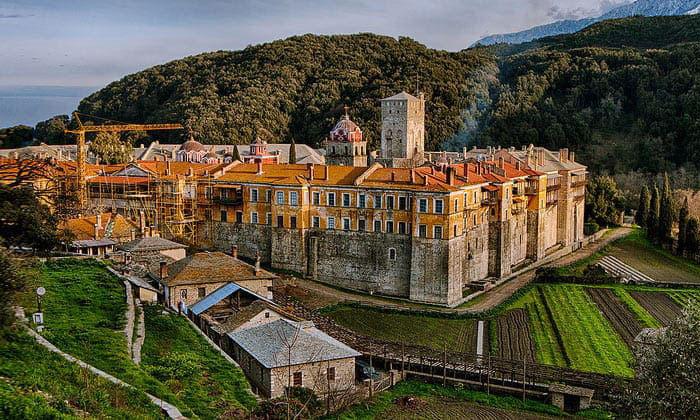 Иверский монастырь (гора Афон) в Греции