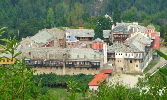 Монастырь Филофей (гора Афон) в Греции