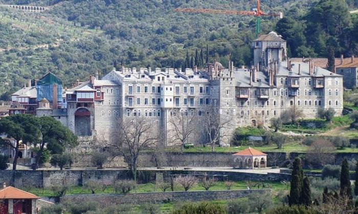 Ватопедский монастырь (гора Афон) в Греции