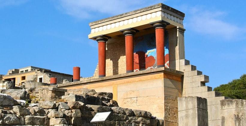 Фрагменты Кносского дворца (Греция)