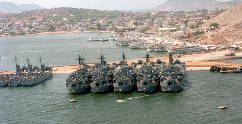 Военно-морская база на острове Саламин