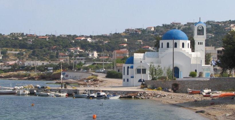 Городок Селиния на острове Саламин (Греция)