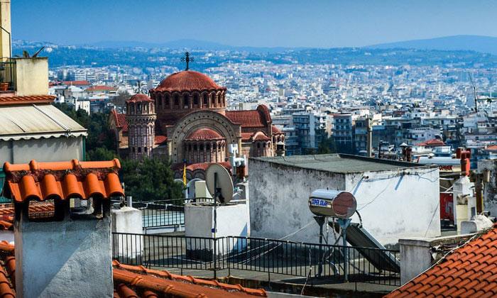 Город Салоники в Греции