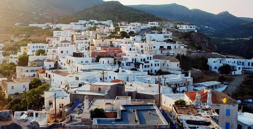 Город Китира (Хора) в Греции