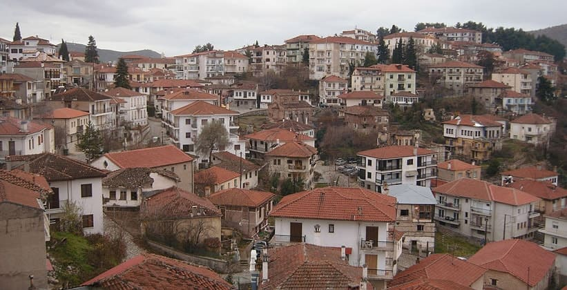 Город Кастория в Греции