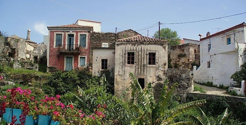 Деревня Каравас на острове Китира