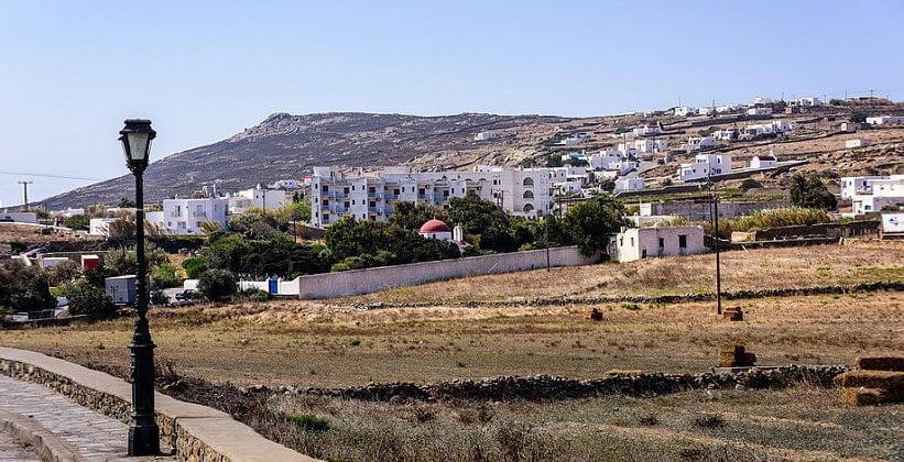 Деревня Ано-Мера на острове Миконос (Греция)