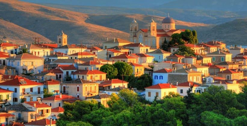 Город Галаксиди в Греции