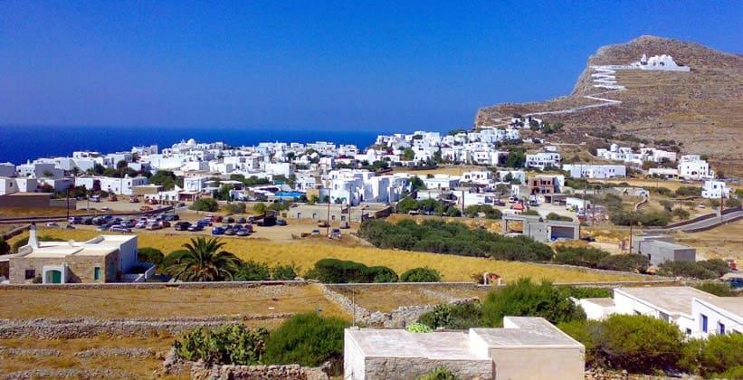 Хора на острове Фолегандрос (Греция)