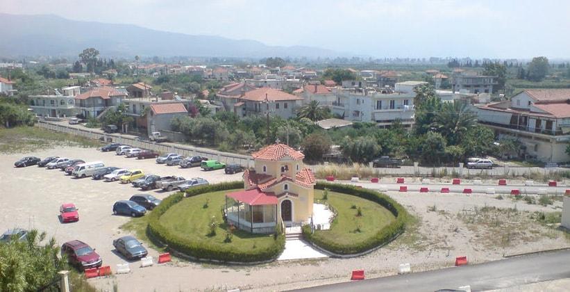 Город Месолонгион в Греции