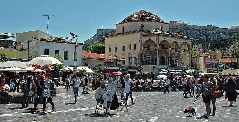 Площадь Монастираки в Афинах (Греция)