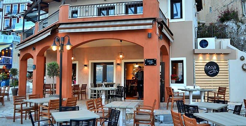 Ресторан Aegis в городе Парга (Греция)