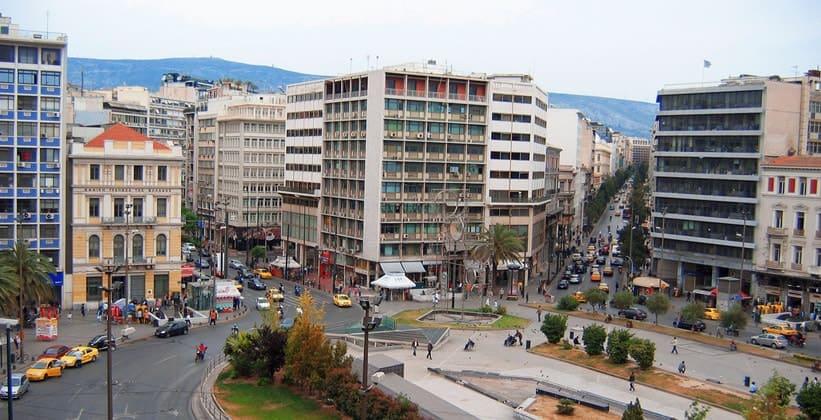 Площадь Омония в Афинах
