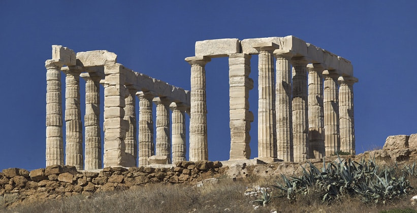 Храм Посейдона на мысе Сунион (Греция)