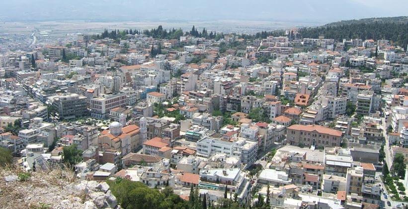 Город Ламия в Греции