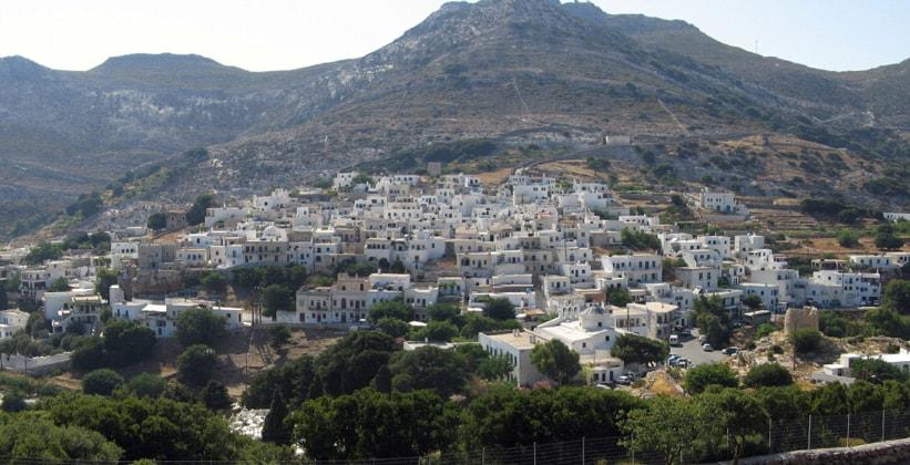 Деревня Апирантос на острове Наксос