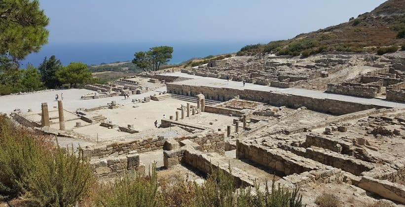 Руины античного города Камирос на острове Родос (Греция)