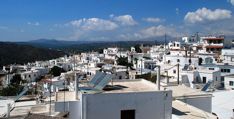 Деревня Асклипио на острове Родос (Греция)