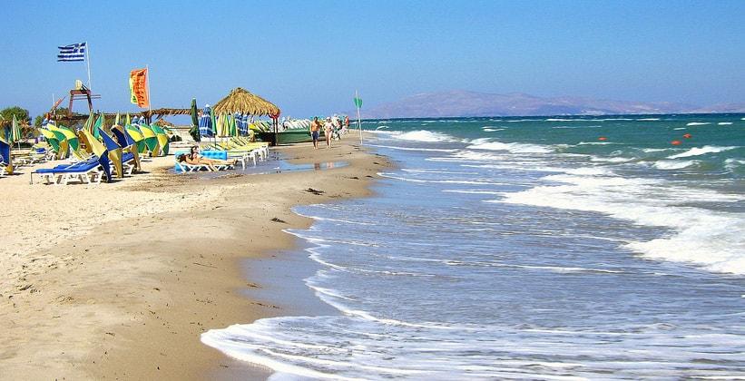 Пляж Тингаки на острове Кос (Греция)