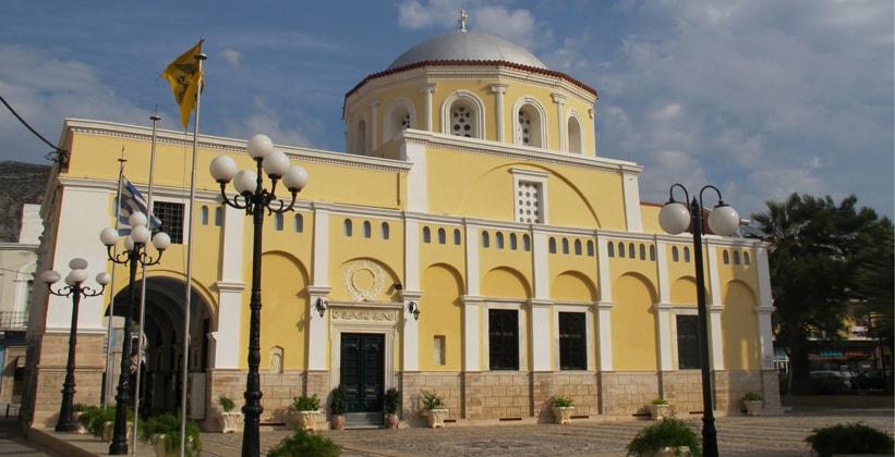 Одна из церквей на острове Калимнос