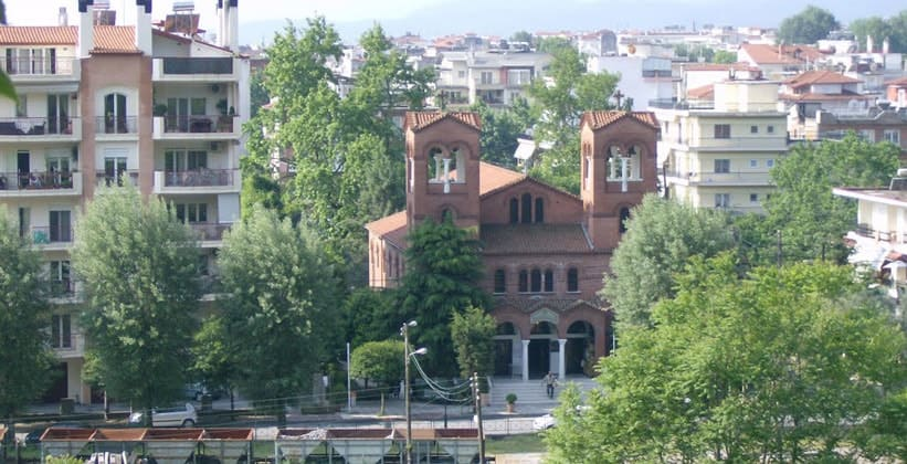 Город Эдесса в Греции