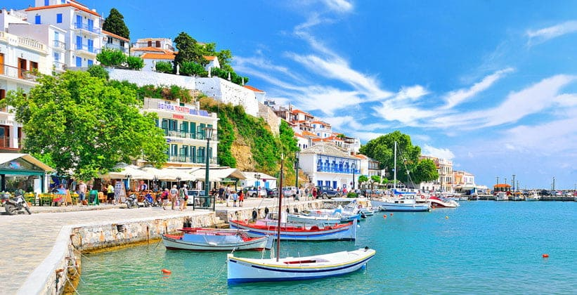 Остров Скопелос на Северных Спорадах (Греция)