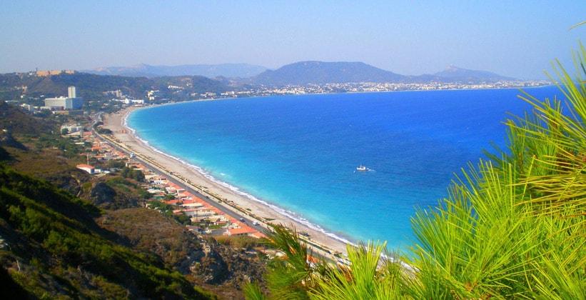 Курорт Иксия на острове Родос (Греция)