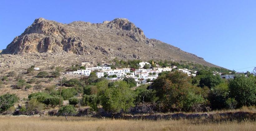 Столица острова Тилос – Мегало-Хорио (Греция)