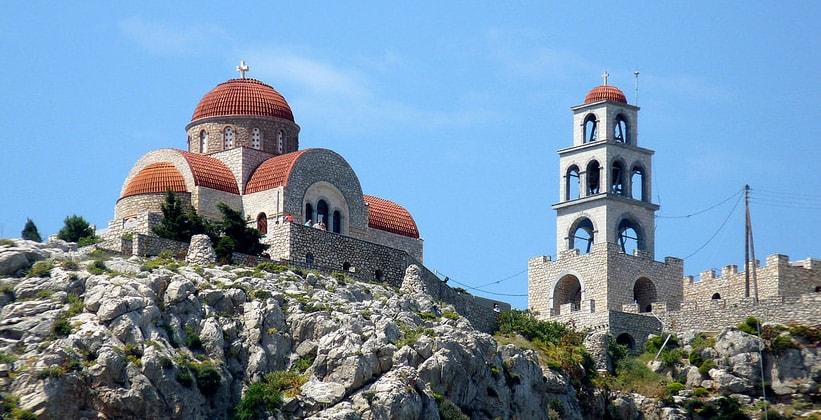 Монастырь Святого Саввы на острове Калимнос (Греция)