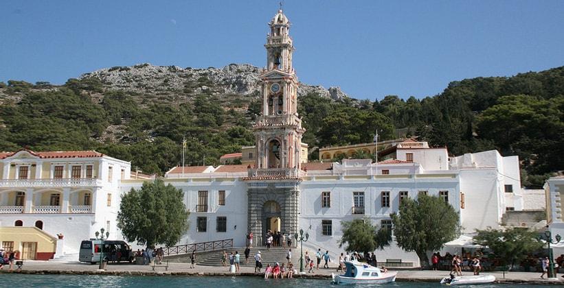 Монастырь Панормитис на острове Сими (Греция)