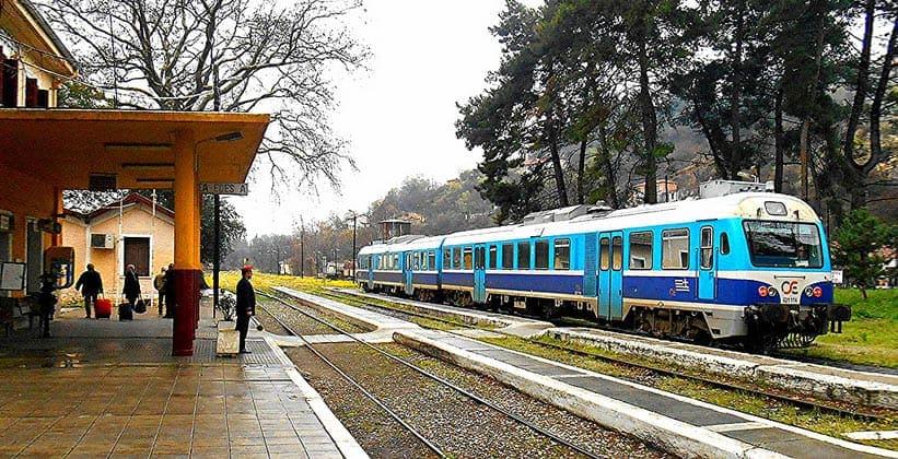 Железнодорожная станция города Эдесса (Греция)