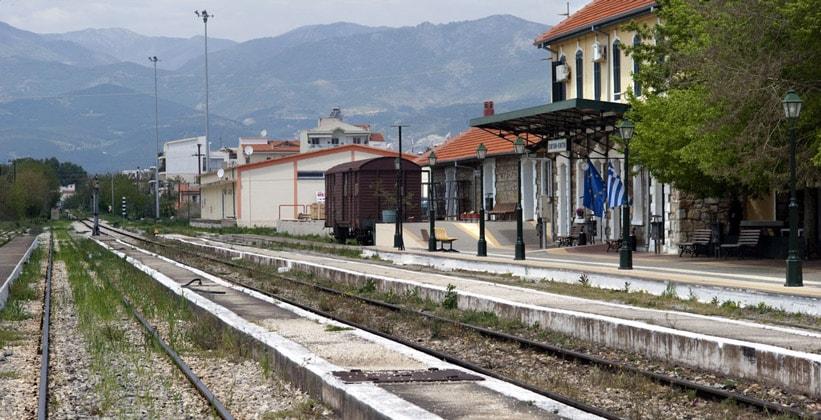 Железнодорожная станция в Комотини (Греция)