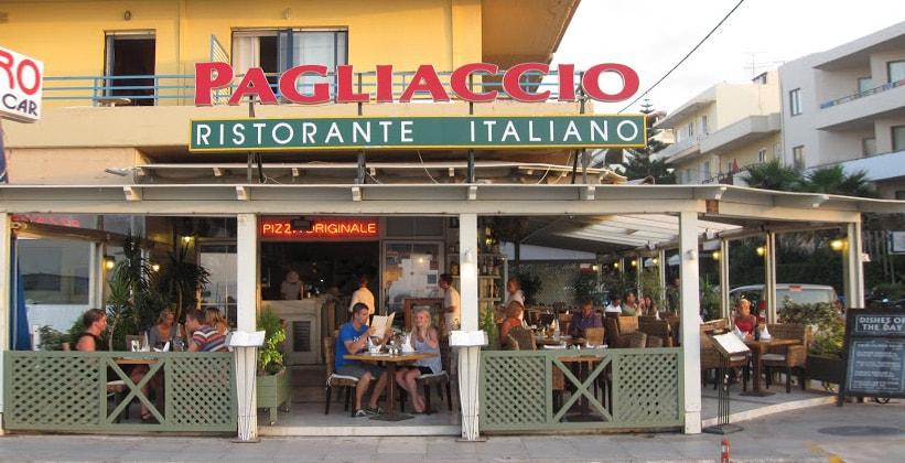 Итальянский ресторан Pagliaccio в городе Ретимно (Греция)